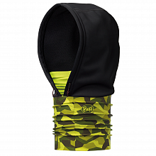 Капюшон BUFF WINDPROOF HOODIE BLOCK CAMO GREEN