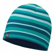 Шапка BUFF KNITTED & POLAR HAT BUFF LAKISTRIPES TURQUOISE-TURQUOISE-Standard