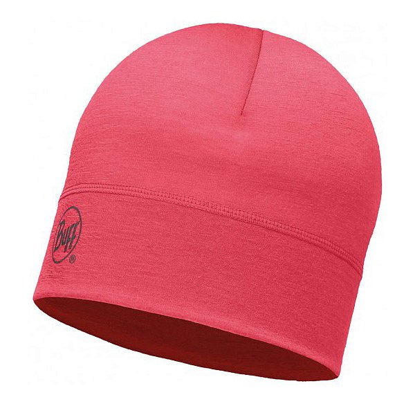 Шапка BUFF WOOL BUFF MERINO WOOL 1 LAYER HAT BUFF SOLID PINK HIBISCUS