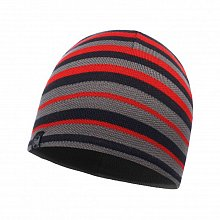 Шапка BUFF KNITTED & POLAR HAT LAKI STRIPES GREY PEWTER