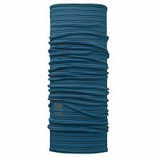 Шарф BUFF Wool BUFF Patterned & Dyed Stripes MERINO WOOL BUFF SEAPORT BLUE STRIPES