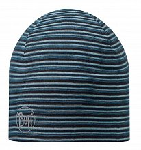 Шапка BUFF MICROFIBER 2 LAYERS HAT BUFF STRIPES BLUE
