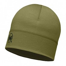 Шапка BUFF WOOL BUFF MERINO WOOL 1 LAYER HAT BUFF SOLID LIGHT MILITARY