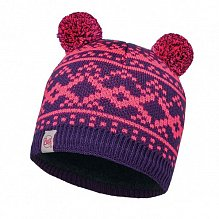 Шапка BUFF KNITTED KIDS COLLECTION CHILD KNITTED & POLAR HAT BUFF NOVY PLUM