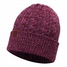 Шапка BUFF KNITTED HAT BRAIDY AMARANTH PURPLE