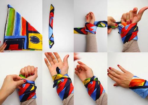 Как можно платком сделать на руке